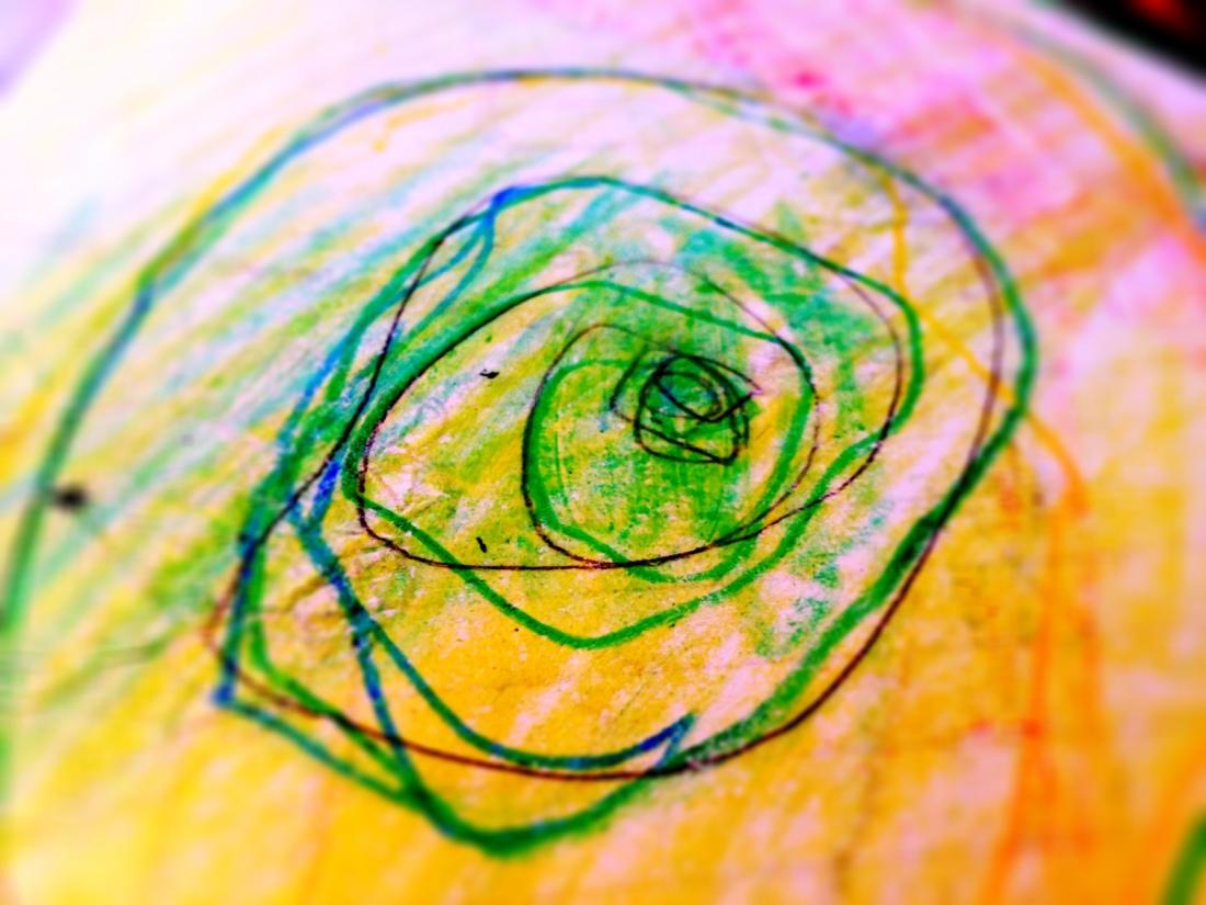 hand-drawn spiral